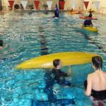 Rollentraining im Schwimmbad